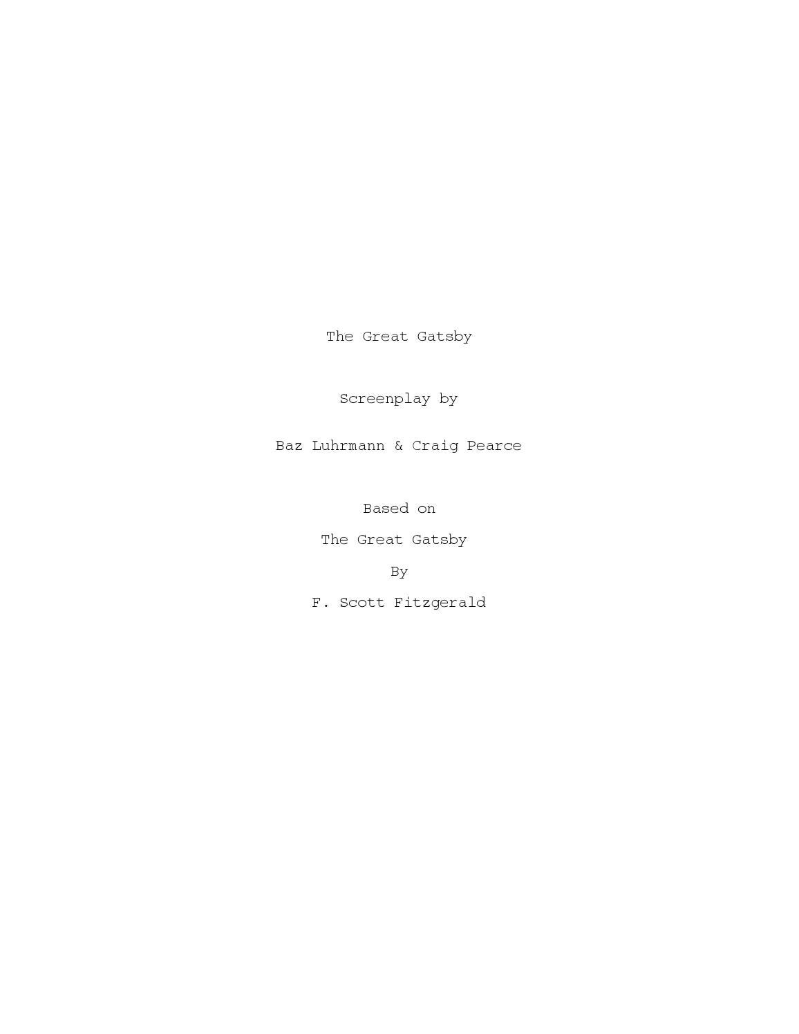 5849c1242 Great Gatsby - movie script by Stephen Brockelman - issuu