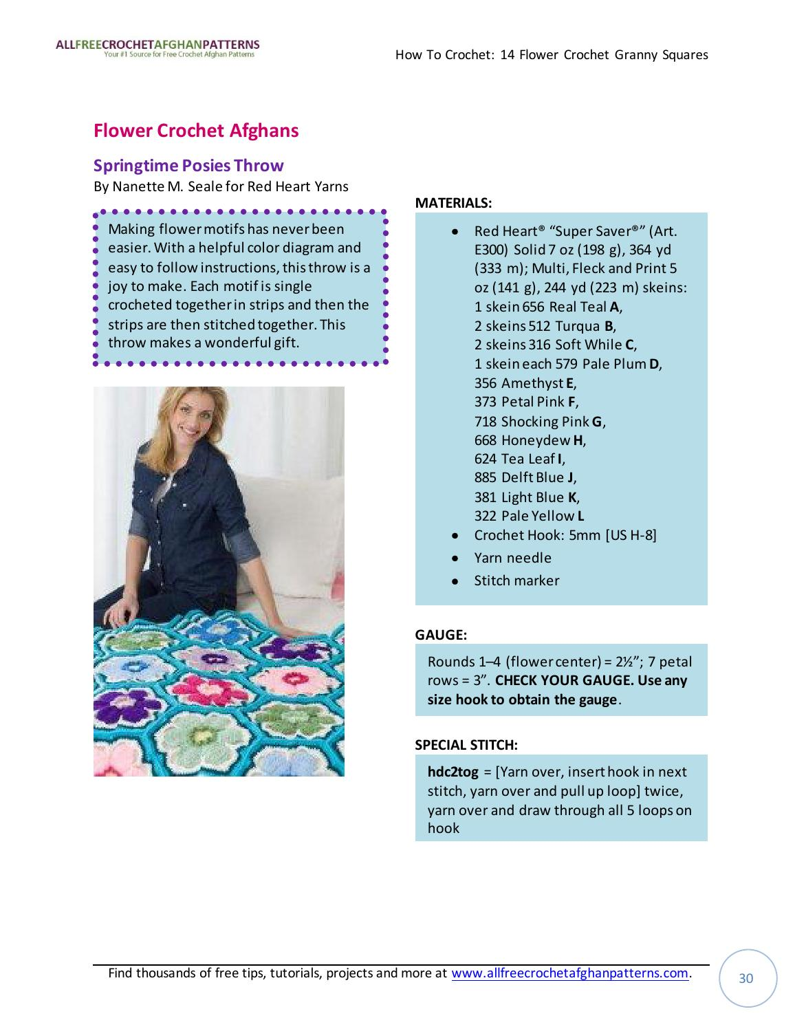 How To Crochet 14 Flower Granny Squares By Jasmina Sizz Issuu Single Diagram