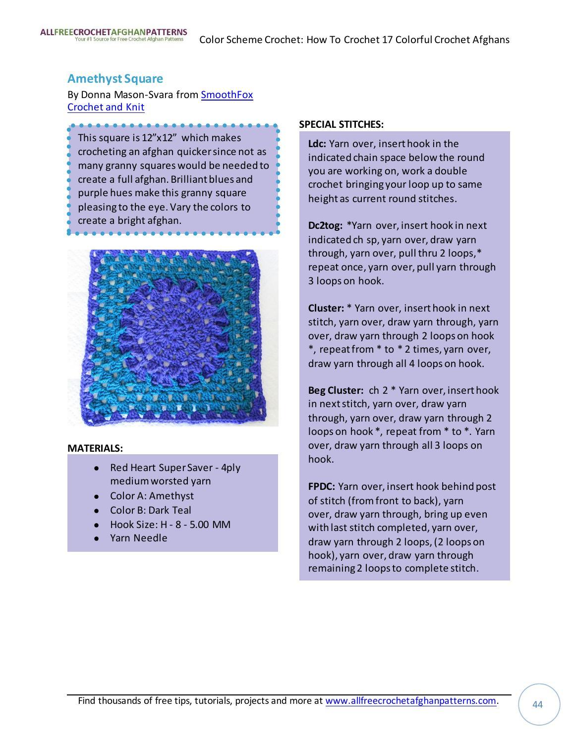 db1ae302b85 Color scheme crochet how to crochet 17 colorful crochet afghans by jasmina  sizz - issuu