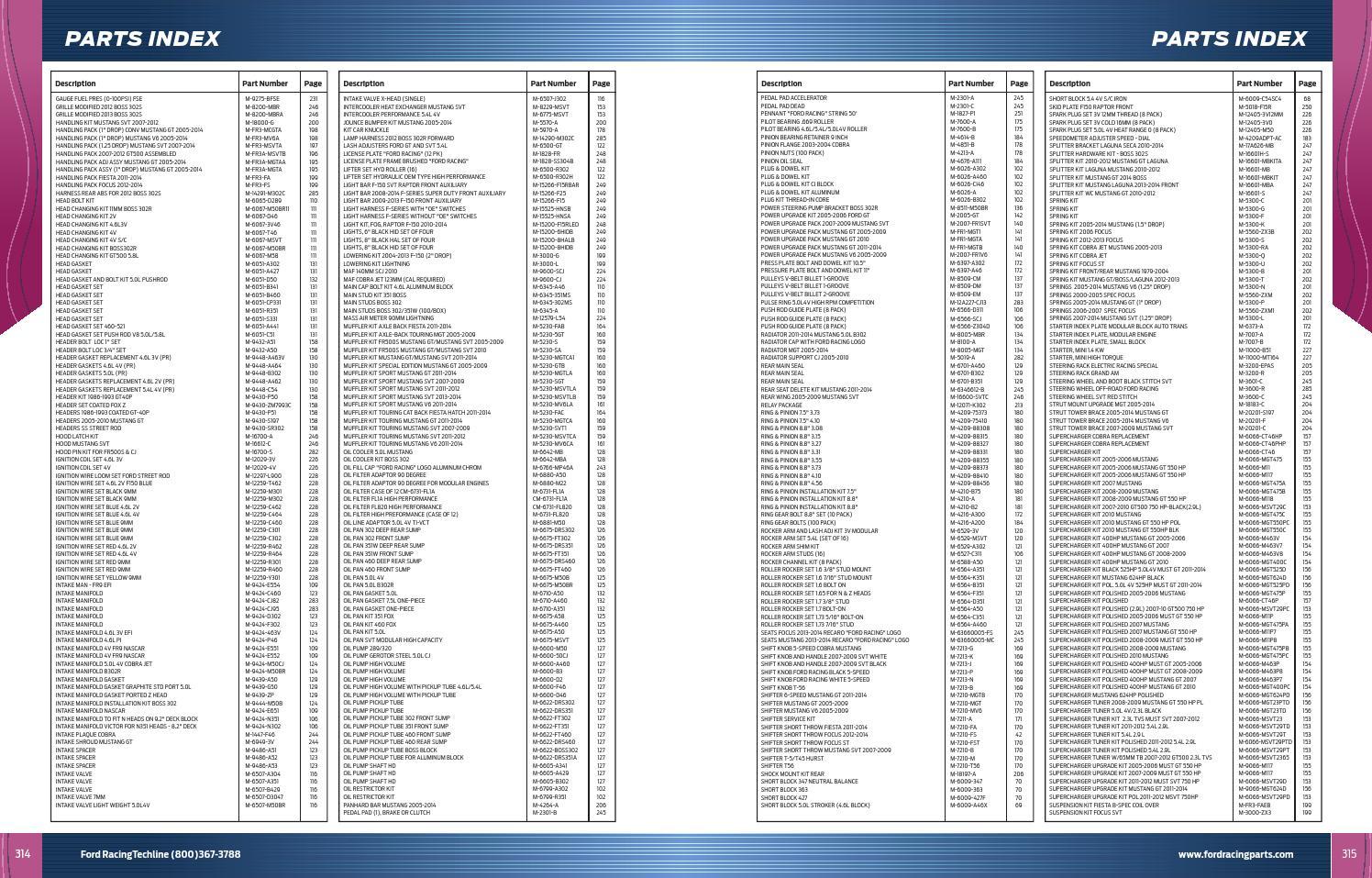 FORD RACING 2005-2010 MUSTANG 4.6L ALUMINUM BLOCK MAIN CAP BOLT KIT M-6345-A46