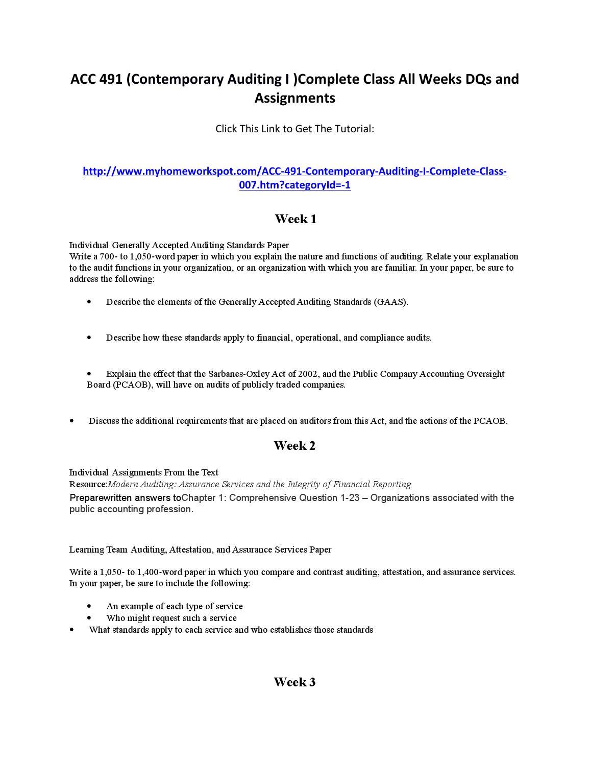 The academic essays
