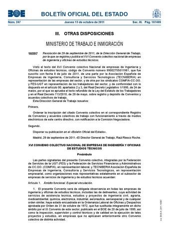 Convenio estatal empresas de ingenier a by sat sevilla issuu for Convenio colectivo oficinas y despachos sevilla