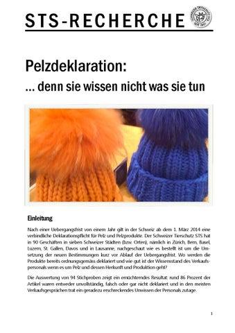 Pelzdeklaration by Schweizer Tierschutz STS issuu
