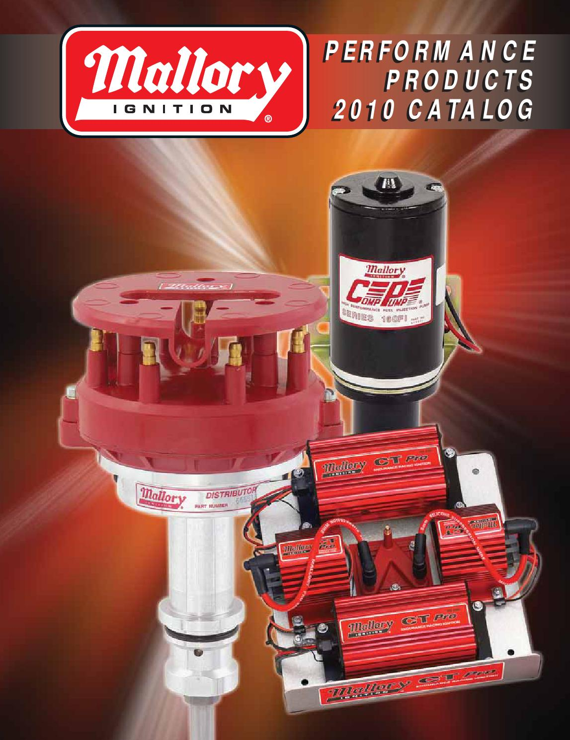 Mallory Catalog 2010 74397g By Tmeyer Inc Issuu Toyota 20r Msd Ignition Wiring Diagrams