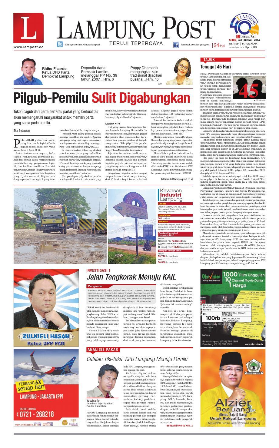 Lampung Post Senin 24 Februari 2014 By Lampung Post Issuu # Muebles Koyga Vigo
