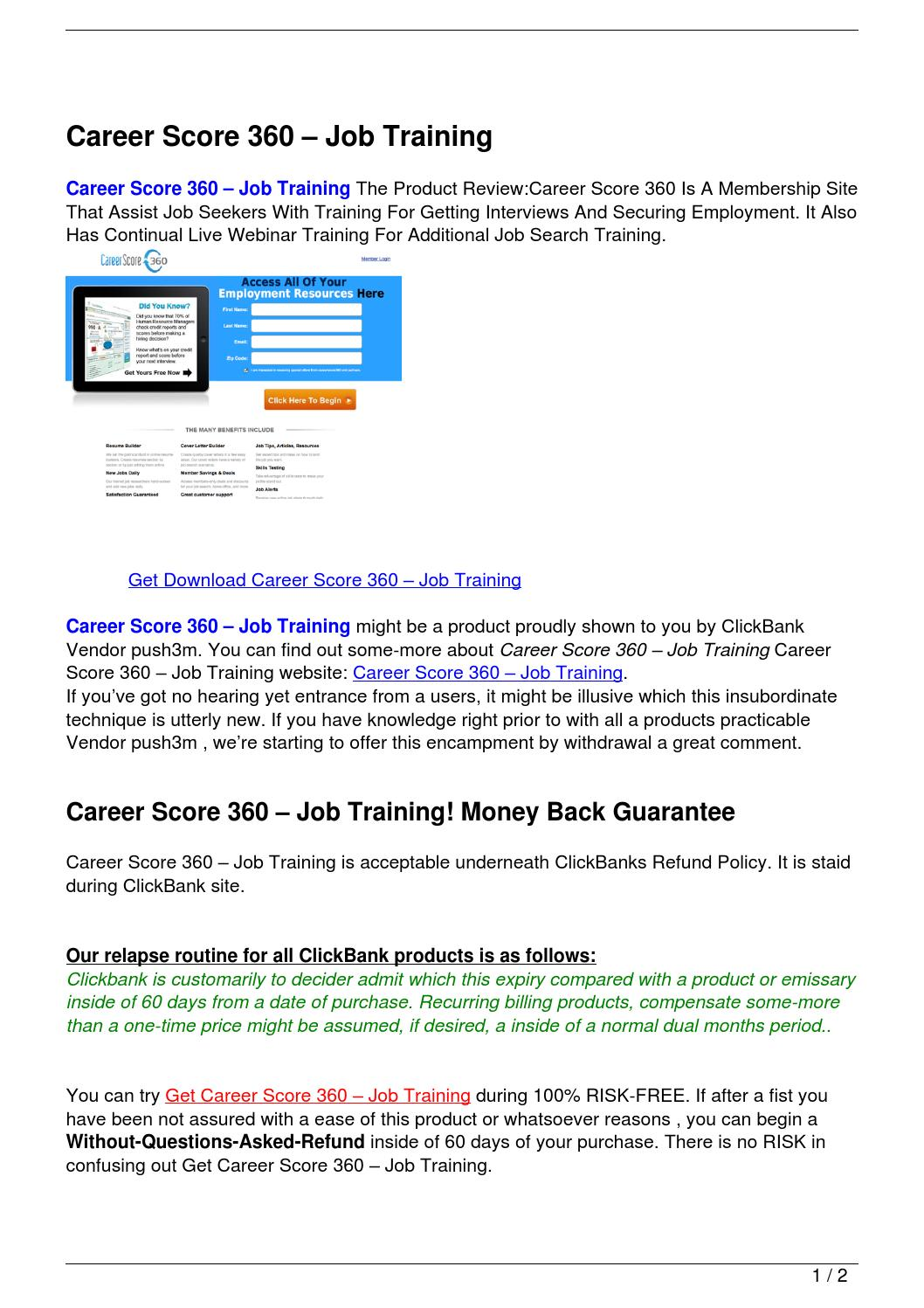 Career Score 360 – Job Training by Hamdouch Bk - Issuu