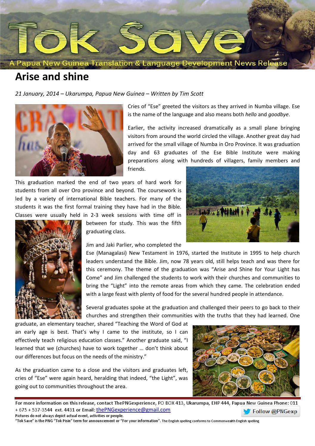 14 01 21 Arise and shine by The PNG Experience - issuu