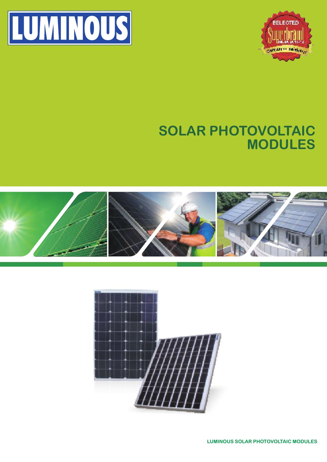 Luminous Solar Panel Battery Amp Shl Catalogue By Luminous