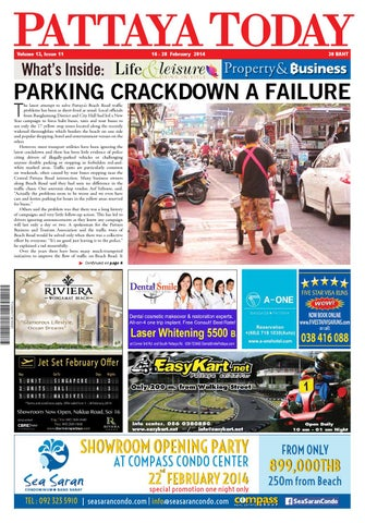 Vol 13 issue 11 16 28 february 2014 by Pattaya Today - issuu