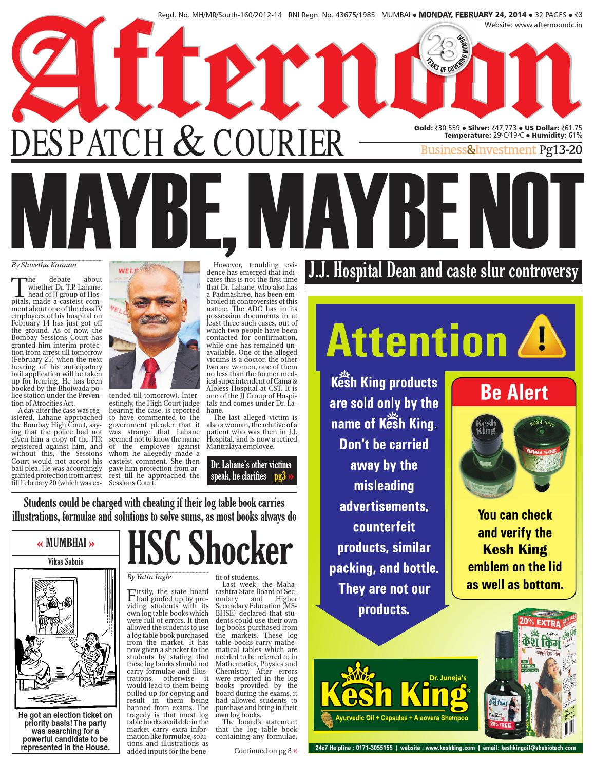 Adc 24 feb 2014 by Afternoon Despatch & Courier - issuu