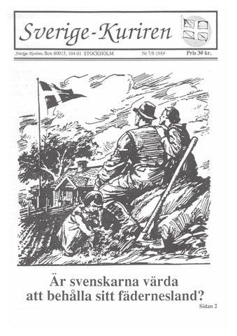 Ar svenskarna fegare an engelsmannen