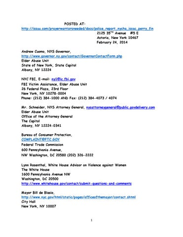 Criminal Complaint Nycha Issac Perry Elder Abuse Harrassment By