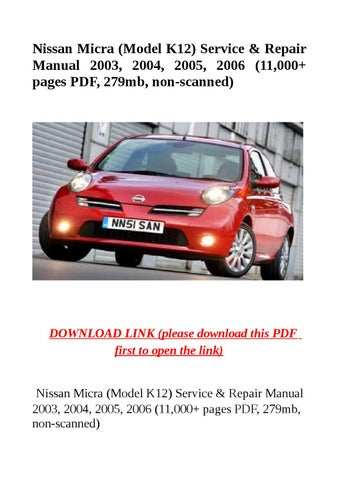 Captivating Nissan Micra K12 Wiring Diagram Pdf Photos Best Image
