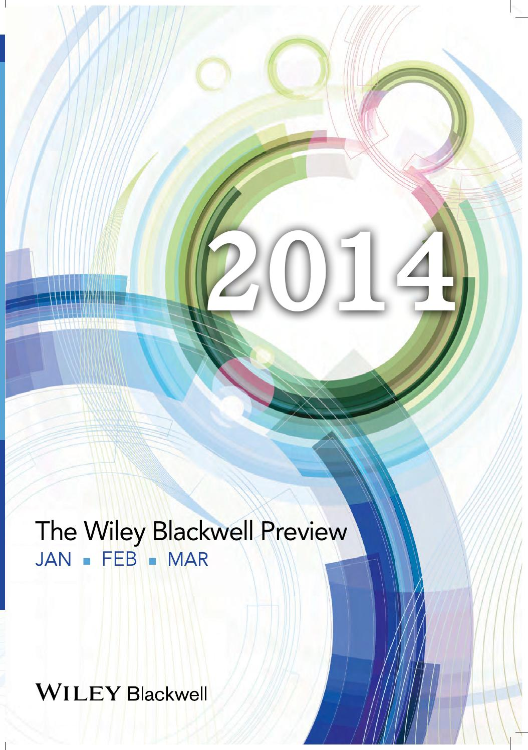 Wiley Blackwell Preview Catalog Jan Feb Mar 2014 by Wiley India - issuu