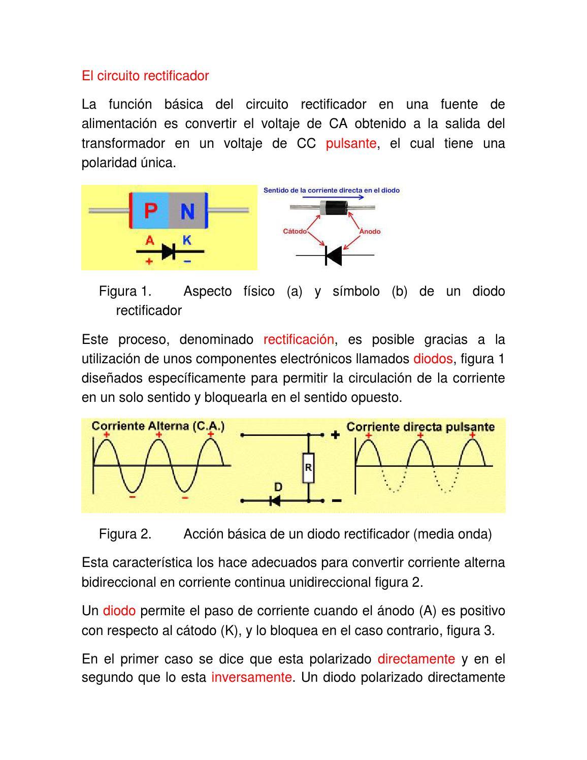 Circuito Onda : Diodo electrónica y diseño de circuitos yoreparo
