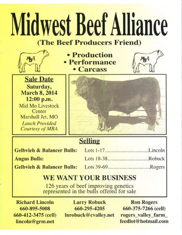 Midwest Beef Alliance Bull Sale