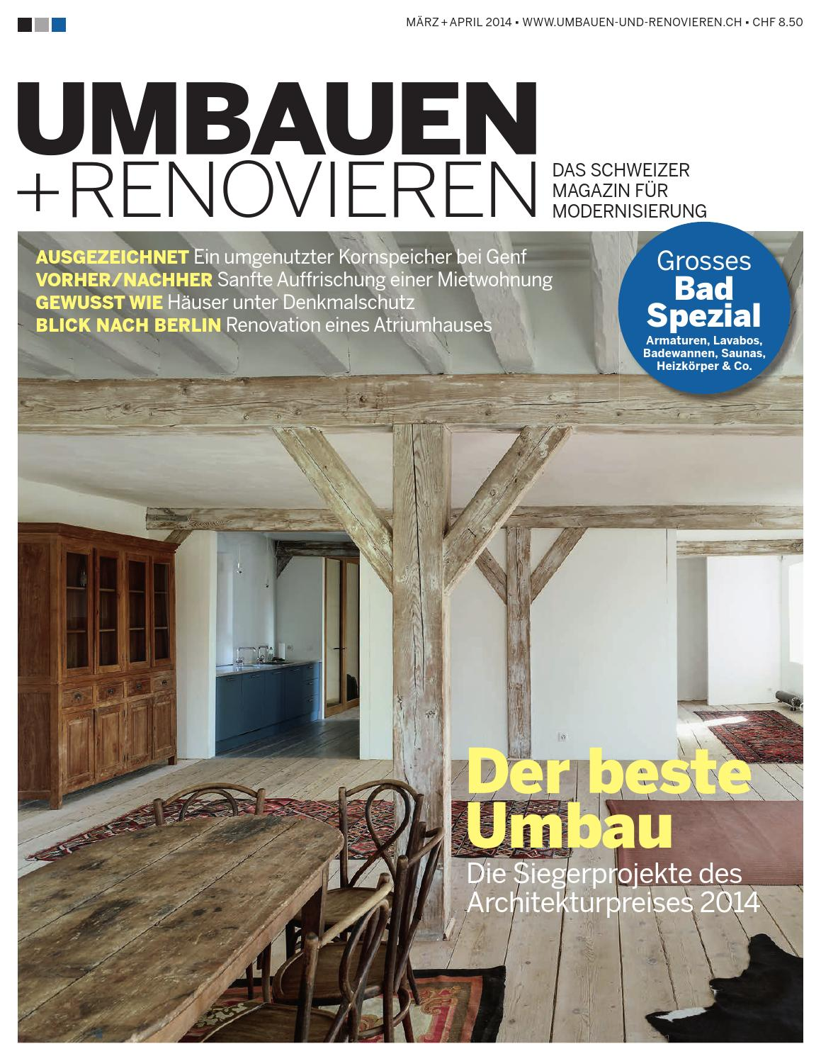 umbauen renovieren 02 2014 by archithema verlag issuu. Black Bedroom Furniture Sets. Home Design Ideas