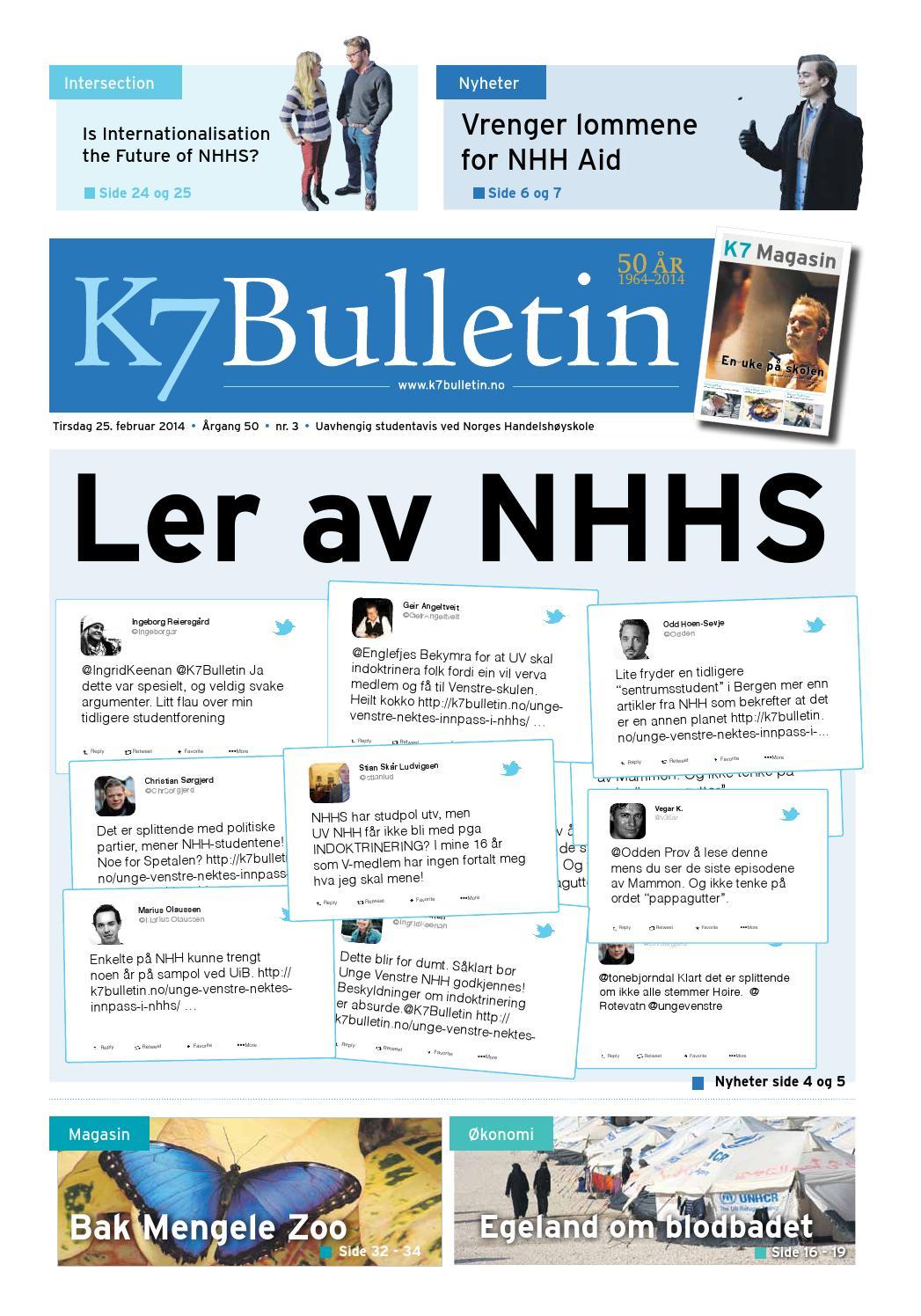 dee35a0d K7 Bulletin #3 2014 by NHH Alumni - issuu