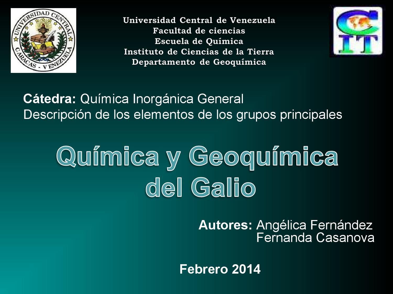 Geoquimica del galio by angelica fernandez issuu urtaz Choice Image