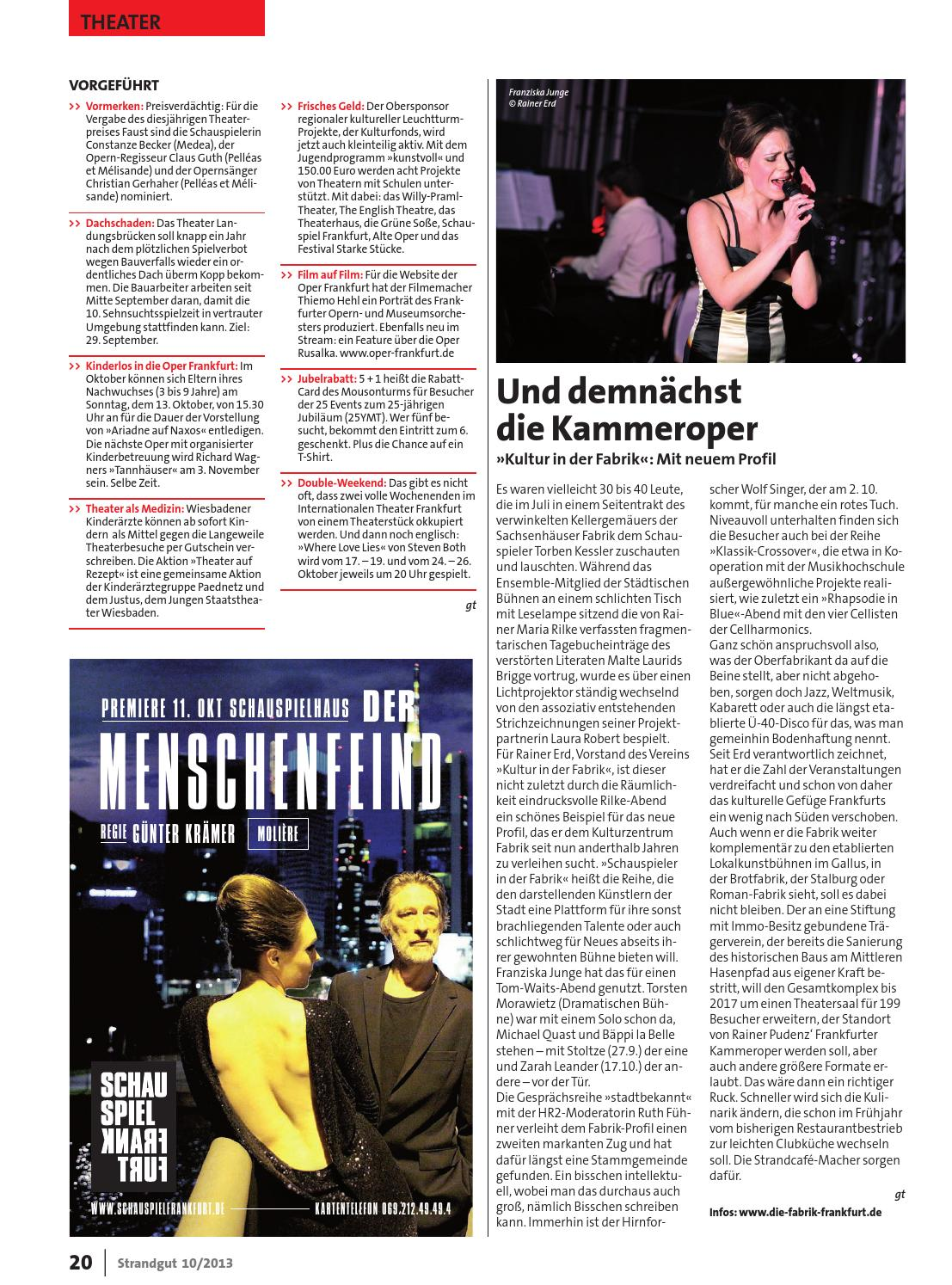Strangut Kulturmagazin 10 2013 By Strandgut Kulturmagazin Issuu