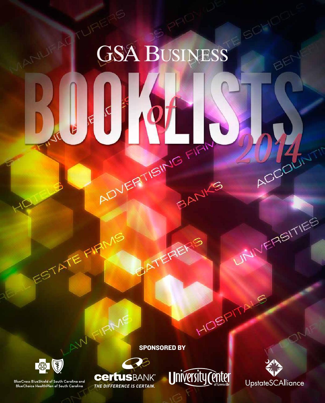 2014 Gsa Book Of Lists By Sc Biz News Issuu