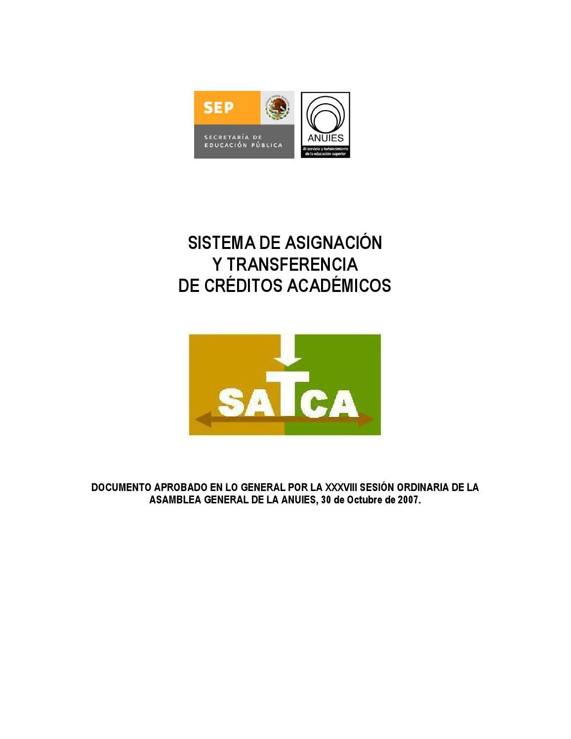 Sistema de Créditos SATCA by Maribel Perez - issuu