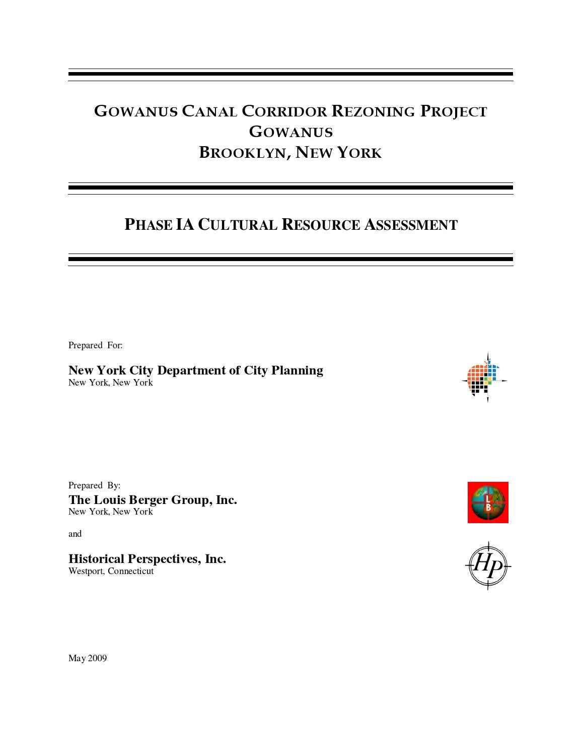 2009 Gowanus Rezoning Corridor Historical Assessment by Hall