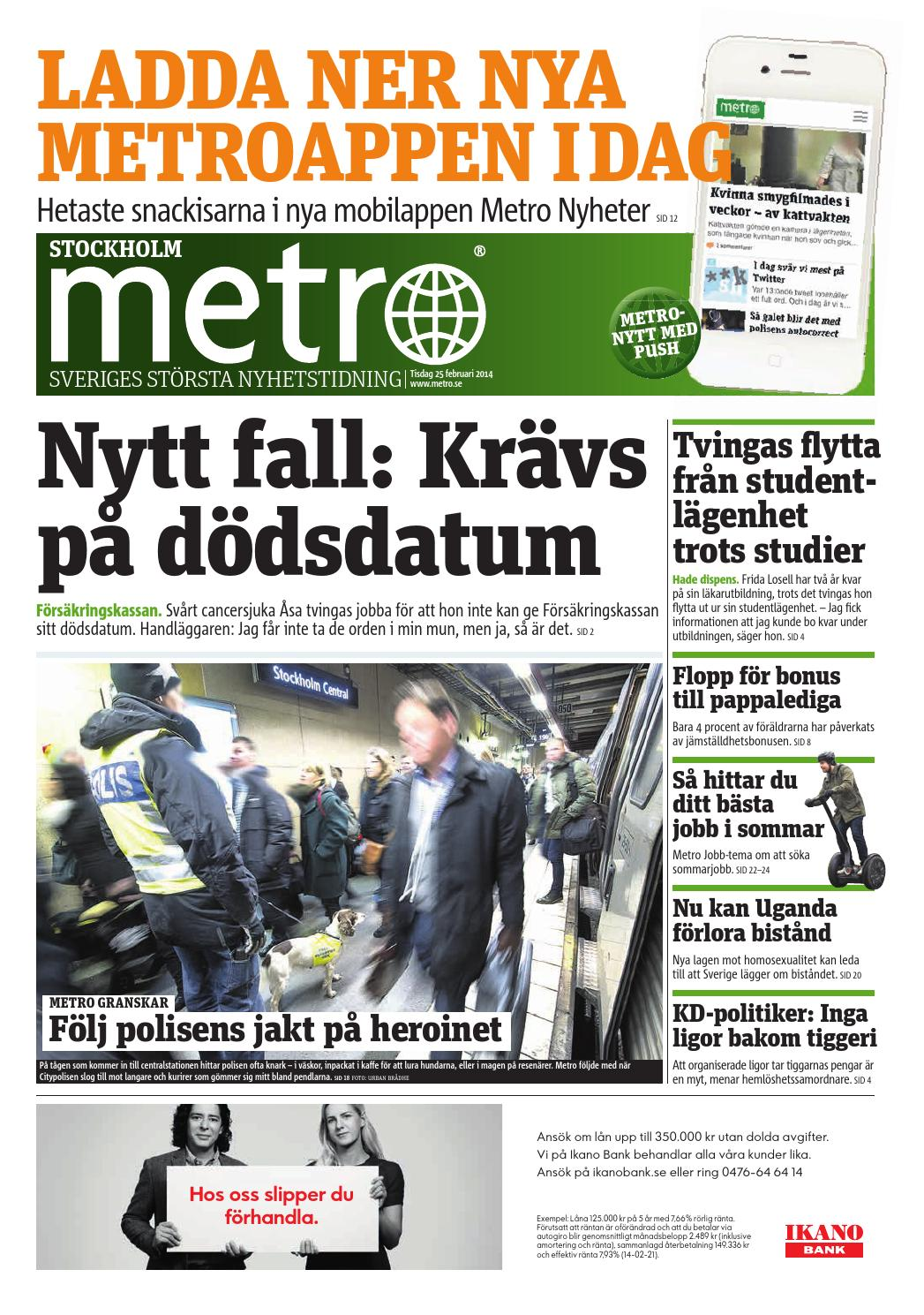 20140225 se stockholm by Metro Sweden - issuu aa536e090e10f