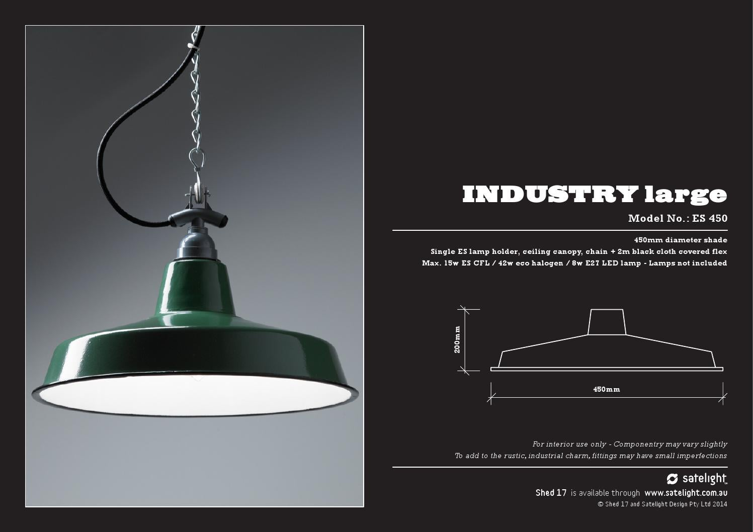 Shed 17 Lighting Catalogue