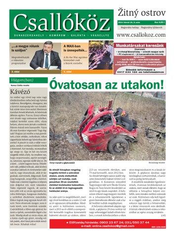 79a679740fe6 Csallóköz - 2014/8.szám by Csallokozonline SK - issuu