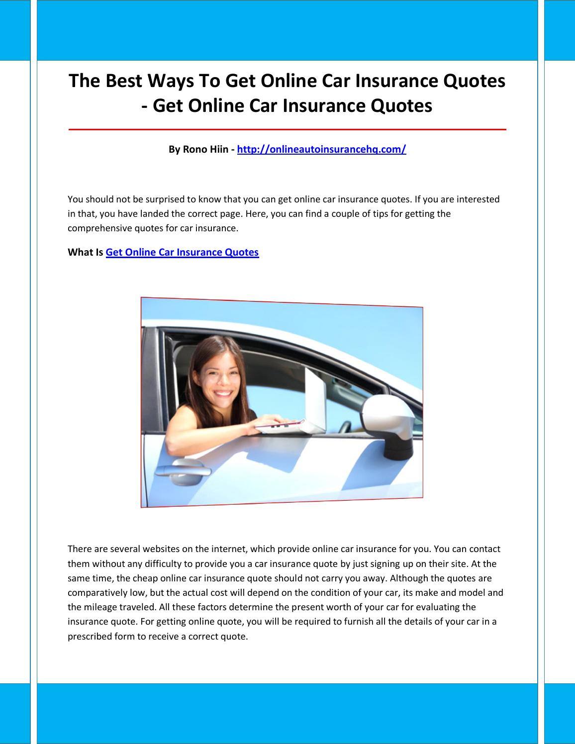 Online Car Insurance Quotes >> Get Online Car Insurance Quotes By Foneqon Issuu