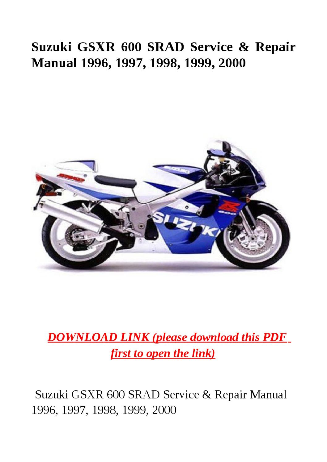 Suzuki gsxr 600 srad service & repair manual 1996, 1997, 1998, 1999, 2000  by herrg - issuu