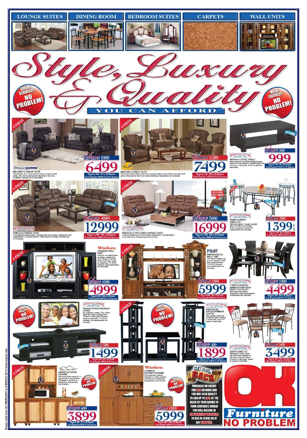 Ok Furniture Website Clearance Furniture Catalogue Validity 25th February 9th March 2014 By