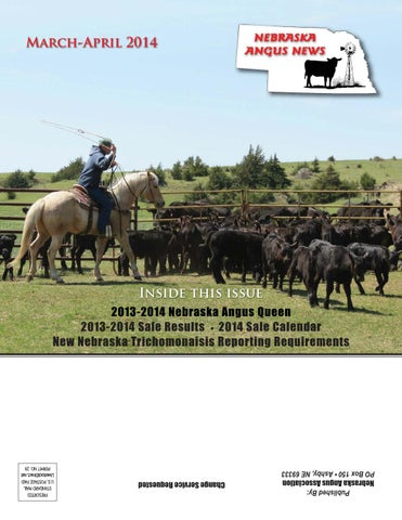 Nebraska Angus News March April 2014 By