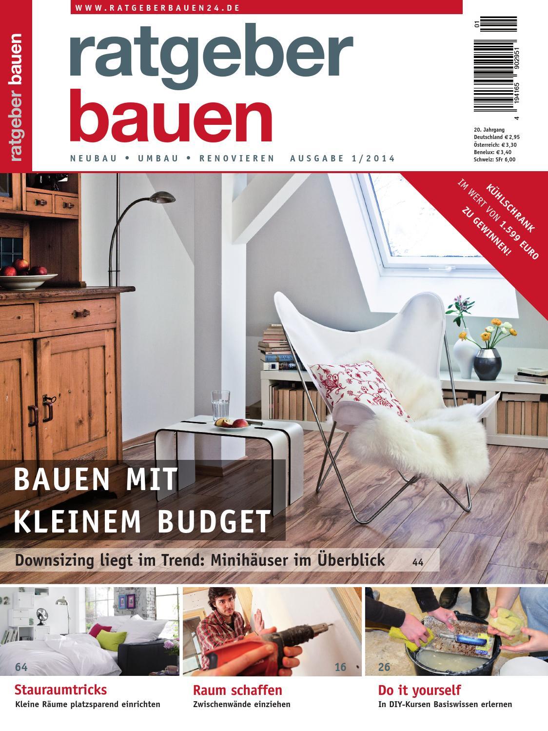 Ratgeber bauen 1 2014 by ratgeber bauen issuu for Ratgeber bauen