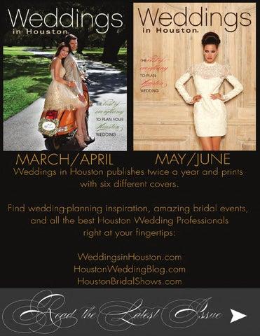 Weddings In Houston Marchapril 2014 By Weddings In Houston Issuu