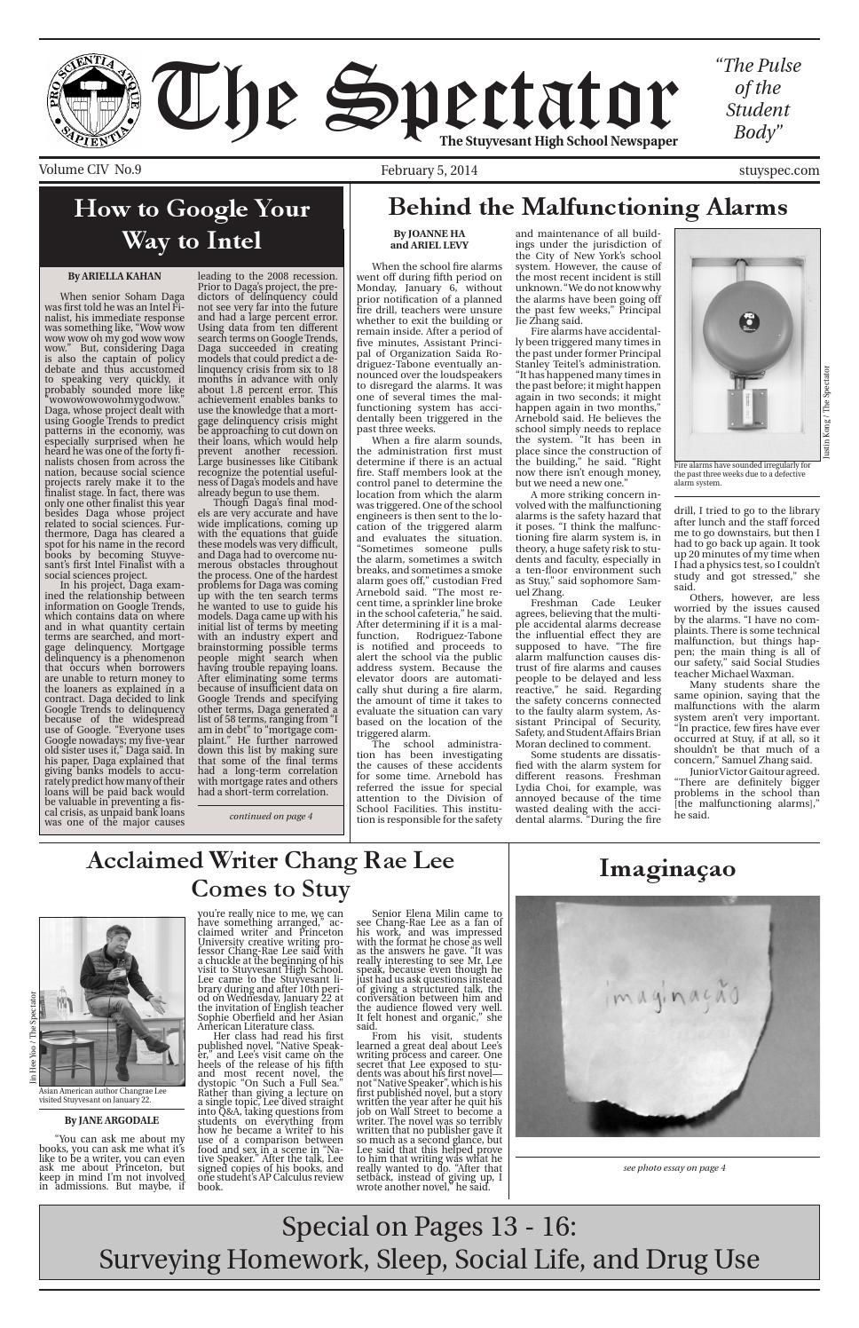 Volume 104 Issue 9 by The Stuyvesant Spectator issuu