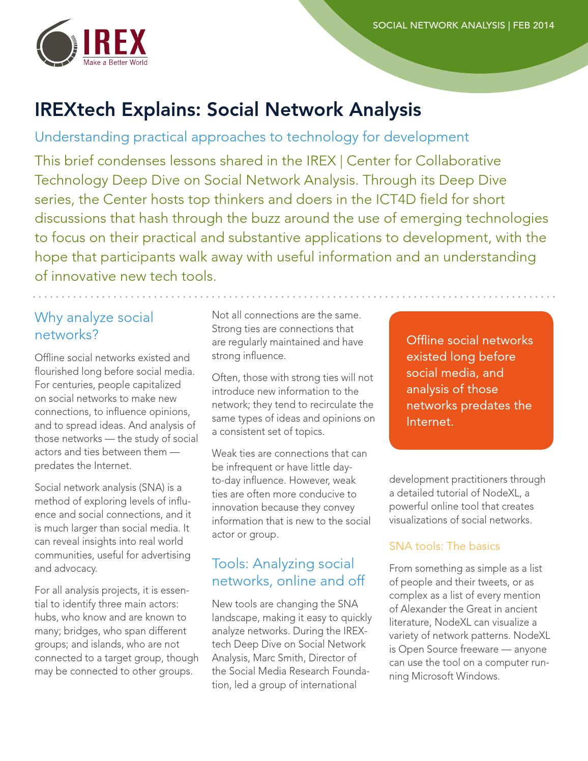 Social Network Analysis and Development by IREX TECH - issuu
