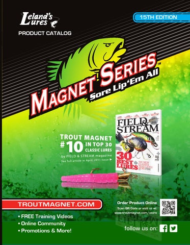 Leland Lures Crappie Magnets 2 packs 30 pc total bison