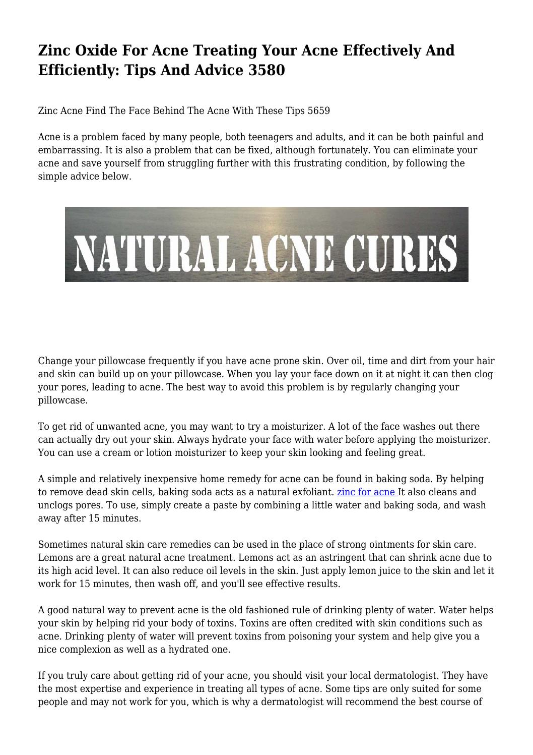 Zinc paste: simply and effectively get rid of skin problems 64