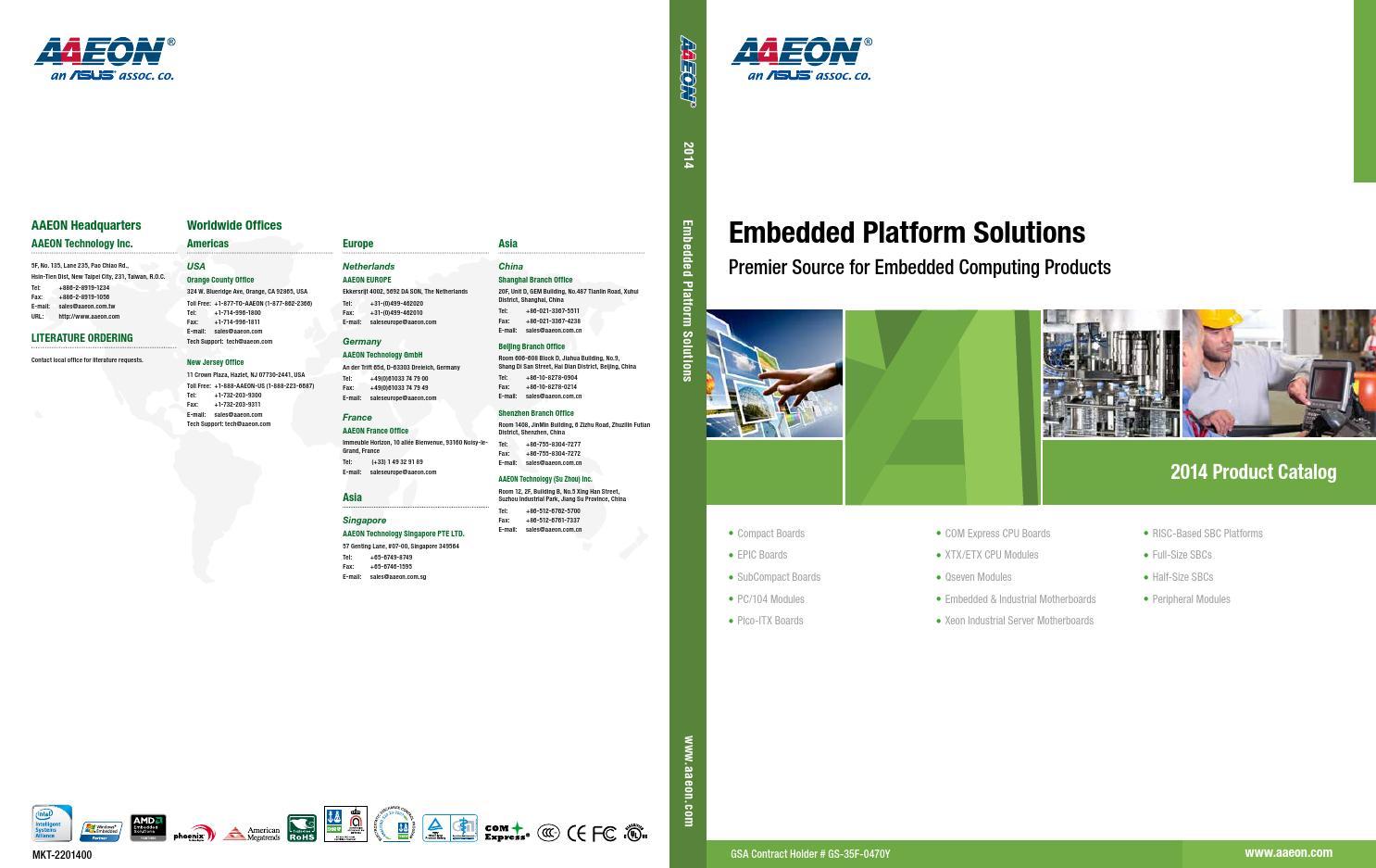 AAEON 2014 Catalog Boards by AAEON - issuu