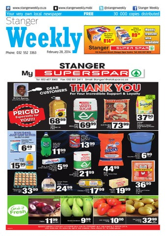 Stanger weekly 20140226 by stanger weekly issuu page 1 fandeluxe Images