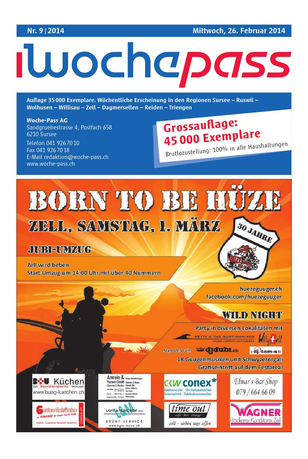 Woche-Pass | KW 9 | 26. Februar 2014 by Woche-Pass AG - issuu