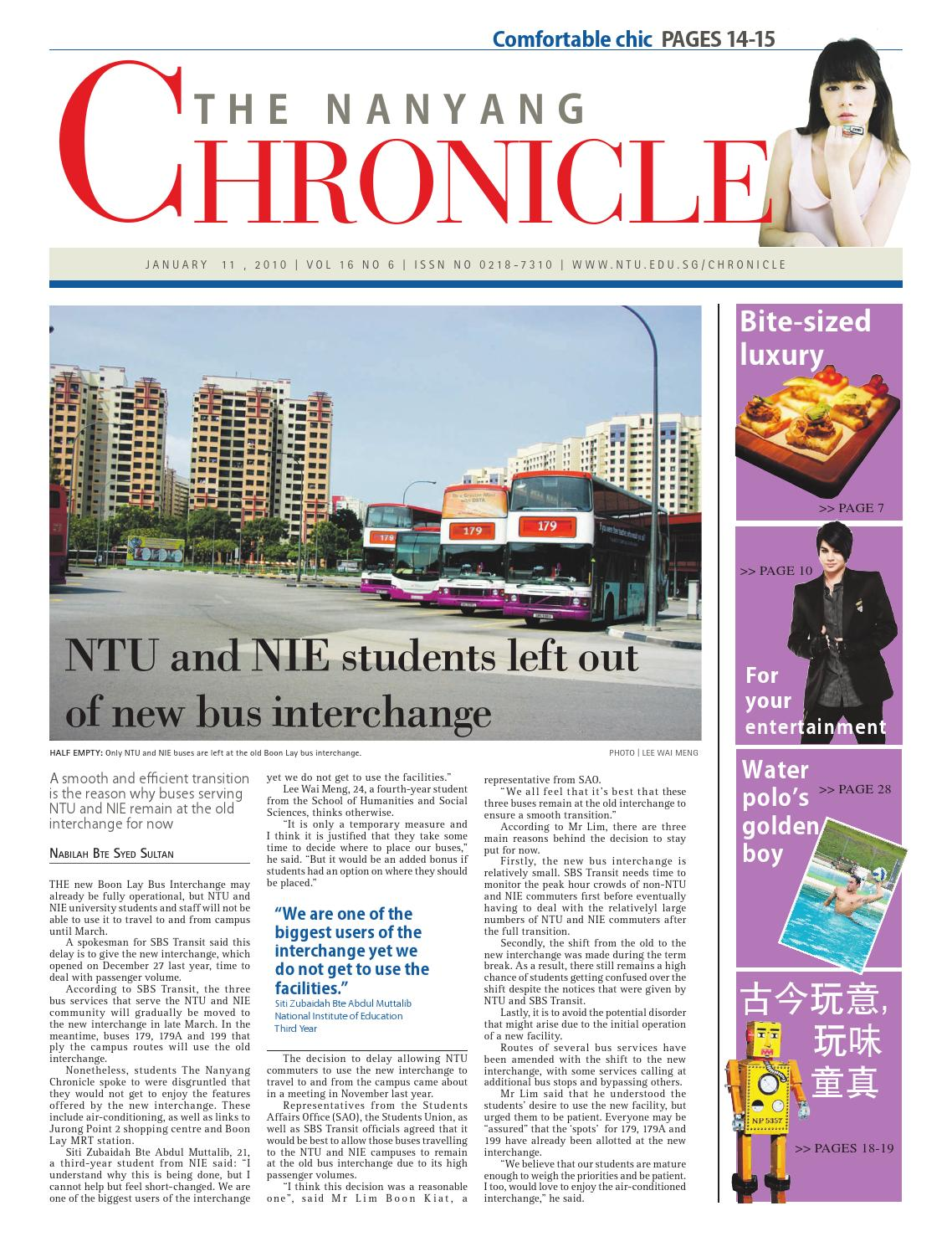 The Nanyang Chronicle Vol 16 Issue 06
