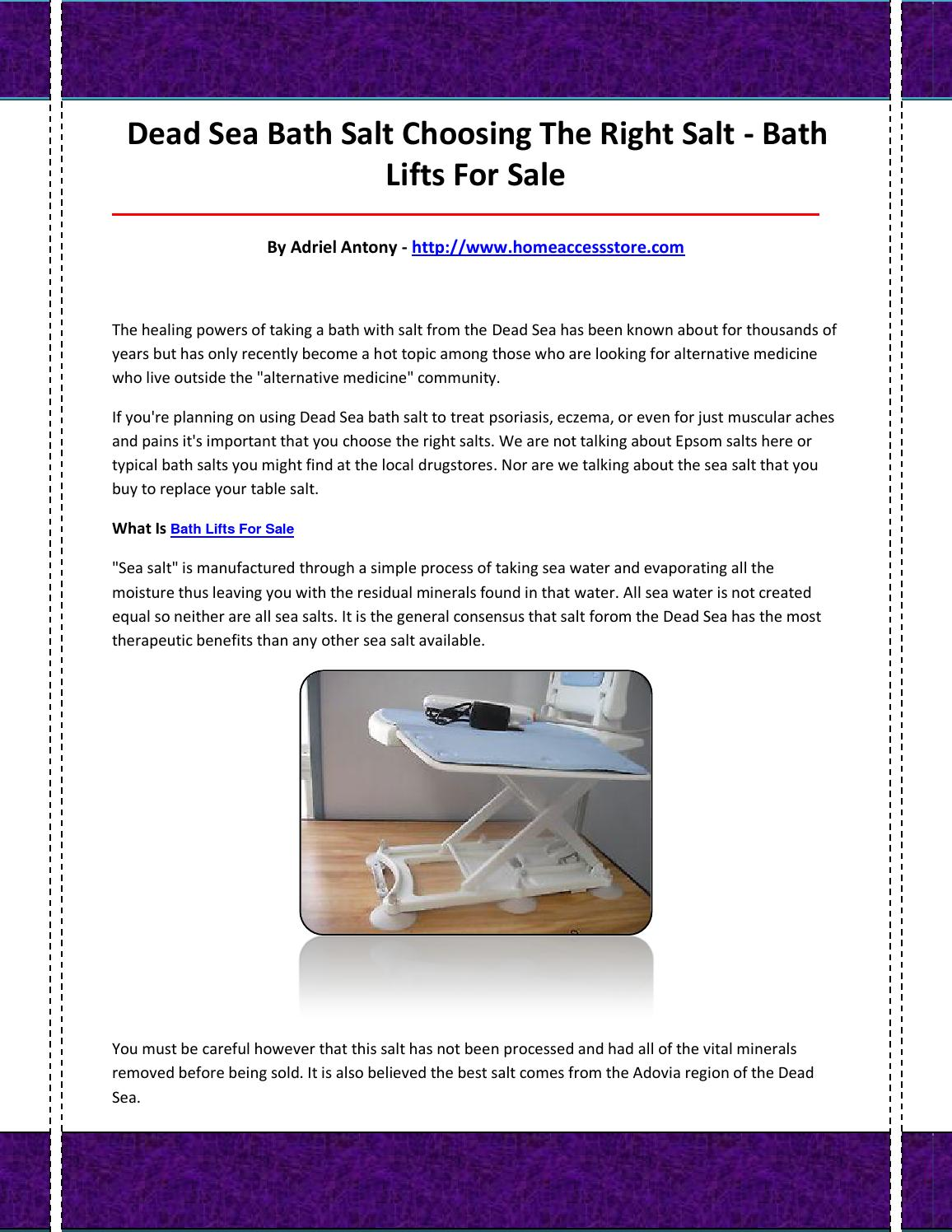 Bath lifts for sale by bathliftsforsale67 - issuu