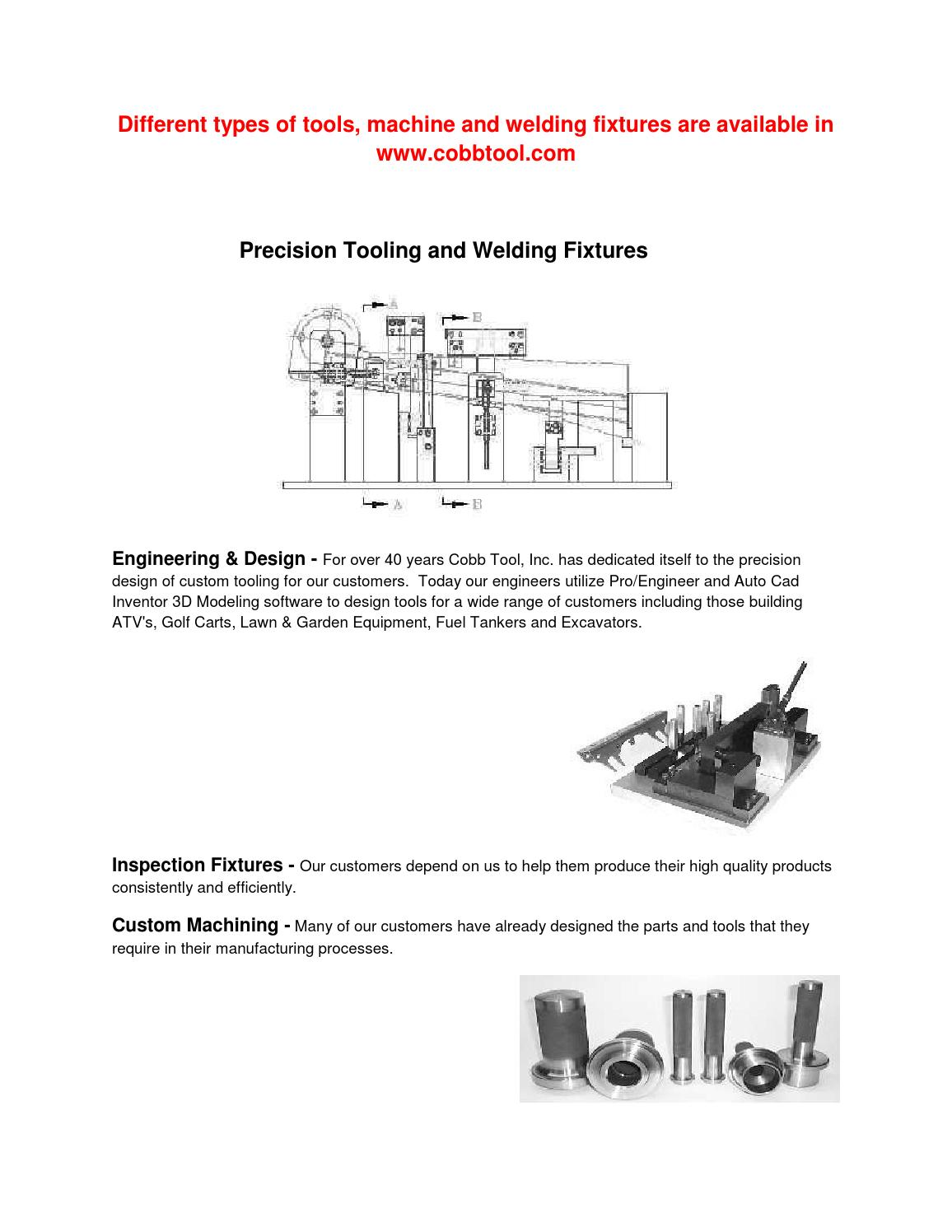 Precision Tooling And Welding Fixtures By Cobbtool Issuu Diagram Of Tools