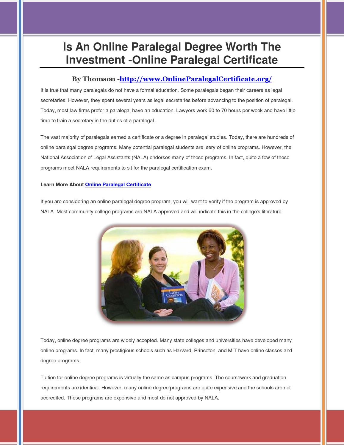 Is An Online Paralegal Degree Worth The Investment By Erttyy Issuu