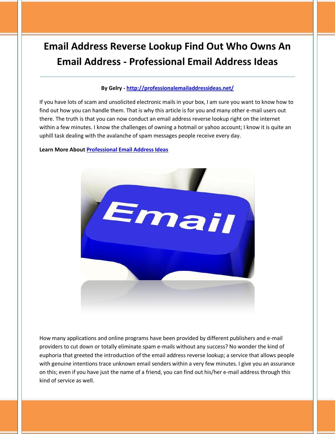 professional email address ideas by mmkiujn - issuu
