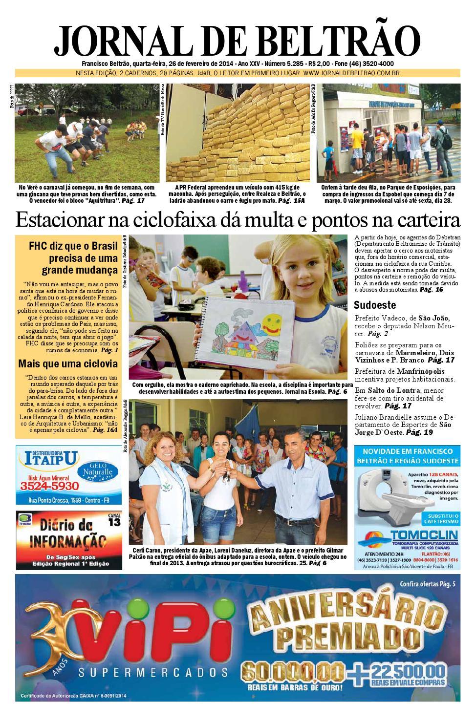 Jornaldebeltrão 5285 2014 02 26 by Orangotoe - issuu c7d07b9141