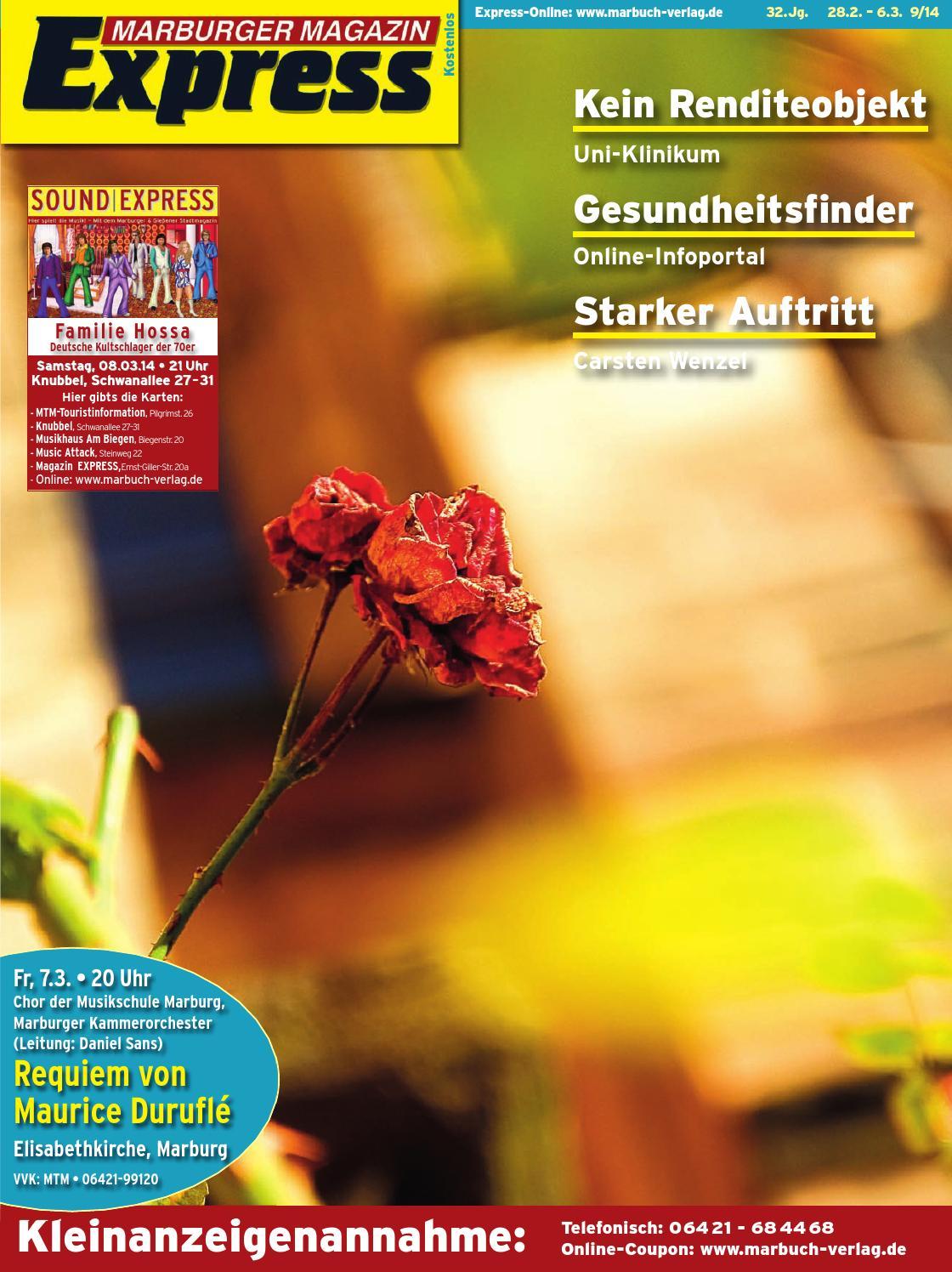 marburger magazin express 9 2014 by ulrich butterweck issuu. Black Bedroom Furniture Sets. Home Design Ideas